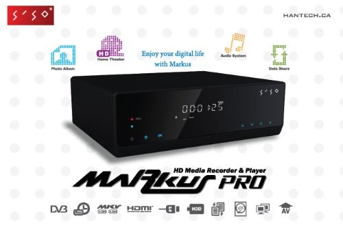 Markus PRO 1080P HD PVR,Hard Drive Recorder,Player,Record VCR,Set Top,DV,HDMI