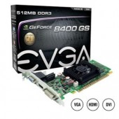 EVGA GeForce 8400GS Graphics Card 600MHz Clock 512MB DDR3 SDRAM 512-P3-1300-LR