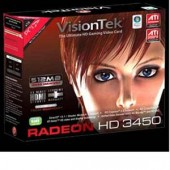 Visiontek 900302 Radeon HD 3450 Graphics Card PCI 512 MB Video Card DVI HDMI VGA