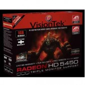 Visiontek 900320 AMD Ati Radeon HD 5450 1GB DR3 SDRAM Video Card PCIE 2.0 x16