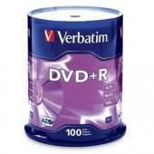 Verbatim America 16x DVD+R Disk Media 4.7GB 120mm Standard 100 Pack 95098 New
