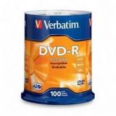 Verbatim 16x DVD-R Media 4.7GB,120mm,100 Pack,95102 New