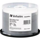 Verbatim 97339 BD-R 6x White Inkjet Hub Printable Disc 25GB 50 Pack Spindle New