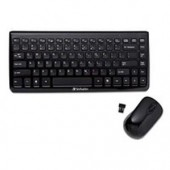 Verbatim 97472 USB Nano Reciever Wireless Keyboard Mouse RF Low Profile Quite