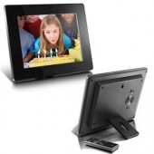 Aluratek ADMPF108F Digital Photo Frame Photo Viewer Audio Player Video Player 8""