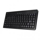 Adesso EasyTouch AKB-110B Wired Mini Keyboard Black PS/2 USB 87 Keys Quiet Keys