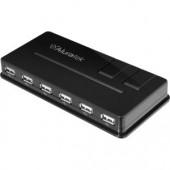Aluratek AUH1210F 10-port USB External Hub 10 x Female Hi-Speed USB 2.0 For PC