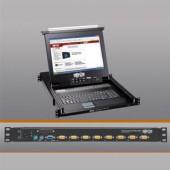 """Tripp Lite B020-008-17 8-Port 1U Console KVM Switch Steel Housing 17"""" LCD 8xSPDB"""