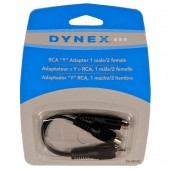 Dynex RCA Y Adapter 1 Male to 2 Female DX-AD102 New