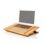 "MacAlly  ECOFANPRO Bamboo Laptop Cooling Stand Dual Fan up to 17"" eco-friendly"