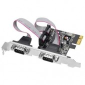 SIIG JJ-E02111-S1 2-port PCI E Serial Adapter 9-pin DB-9 Male RS-232 Serial New