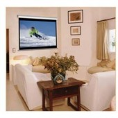 """Elite Screens M99NWS1 99"""" Diag. Matte White Manual Pull Down Projection Screen"""