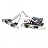 StarTech PEX4S553 4 Port Native PCI Express RS232 Serial Adapter Card w/ 16550