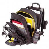 Targus CityGear Chicago Notebook Backpack Nylon Black Gray Yellow TCG650 NEW