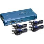 TRENDnet TK-407K 4-Port USB KVM Switch 4 x HD-15 Keyboard/Mouse/Video 2048x1536