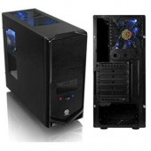 Thermaltake V4 VM30001W2Z Black Edition Chassis Mid-tower Black Steel 10xBay Fan